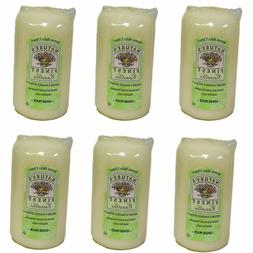 Ginger Peach Candles Scented Pillar 6 Qty, 6 Inch, White, Na