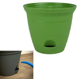 Green Plastic Self Watering Flower Plant Pot Garden Potted P