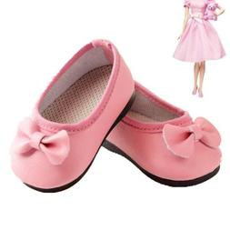 Handmade Fashion Pink Boot Shoes For 16inch Girl Doll Party