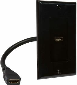 Buyer's Point HDMI Wall Plate with 6-Inch Pigtail Built-In F