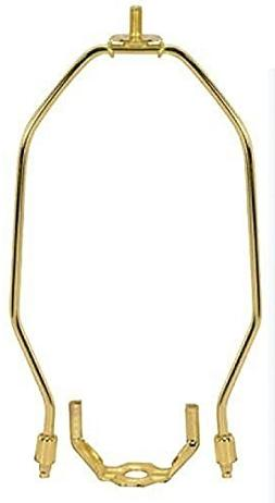 6 Inch Heavy Duty Harp Fitter For Lamp Shades Polished Brass