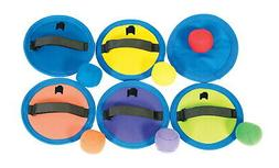 Sportime Hook N Loop CatchPad and Ball, Assorted Colors, 7""