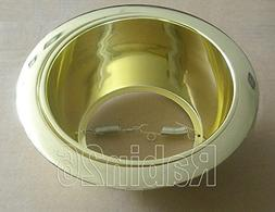 "6"" Inch Recessed Ceiling CAN Light ALL GOLD Metal Trim Shiny"