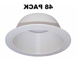"6"" Inch White Baffle Recessed Can Light Trim Replaces HALO 3"