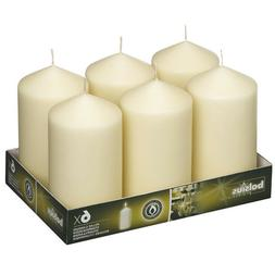 Ivory Pillar Candles 3x6 inches Set Of 6 For Party, Wedding,