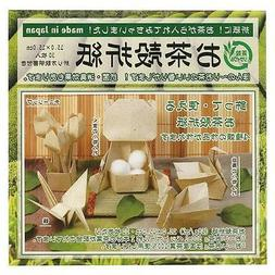 30 Sheets Japanese Origami Paper Green Tea Leaf 6 inches  S-