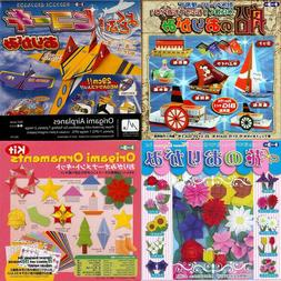 Japanese Origami Paper Kit Boat Airplanes Christmas Flower F