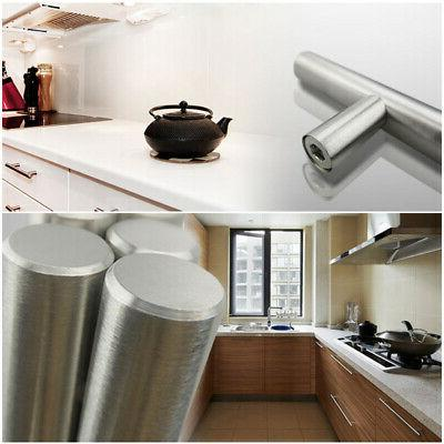 Stainless Pull T-Bar Furniture Handle Kitchen Cabinet Home Drawer ~