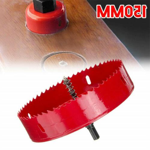 6 inch 150 mm Hole Saw Blade Corn Hole Drilling Cutter Woodw