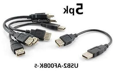 5 pack 6 inch usb 2 0