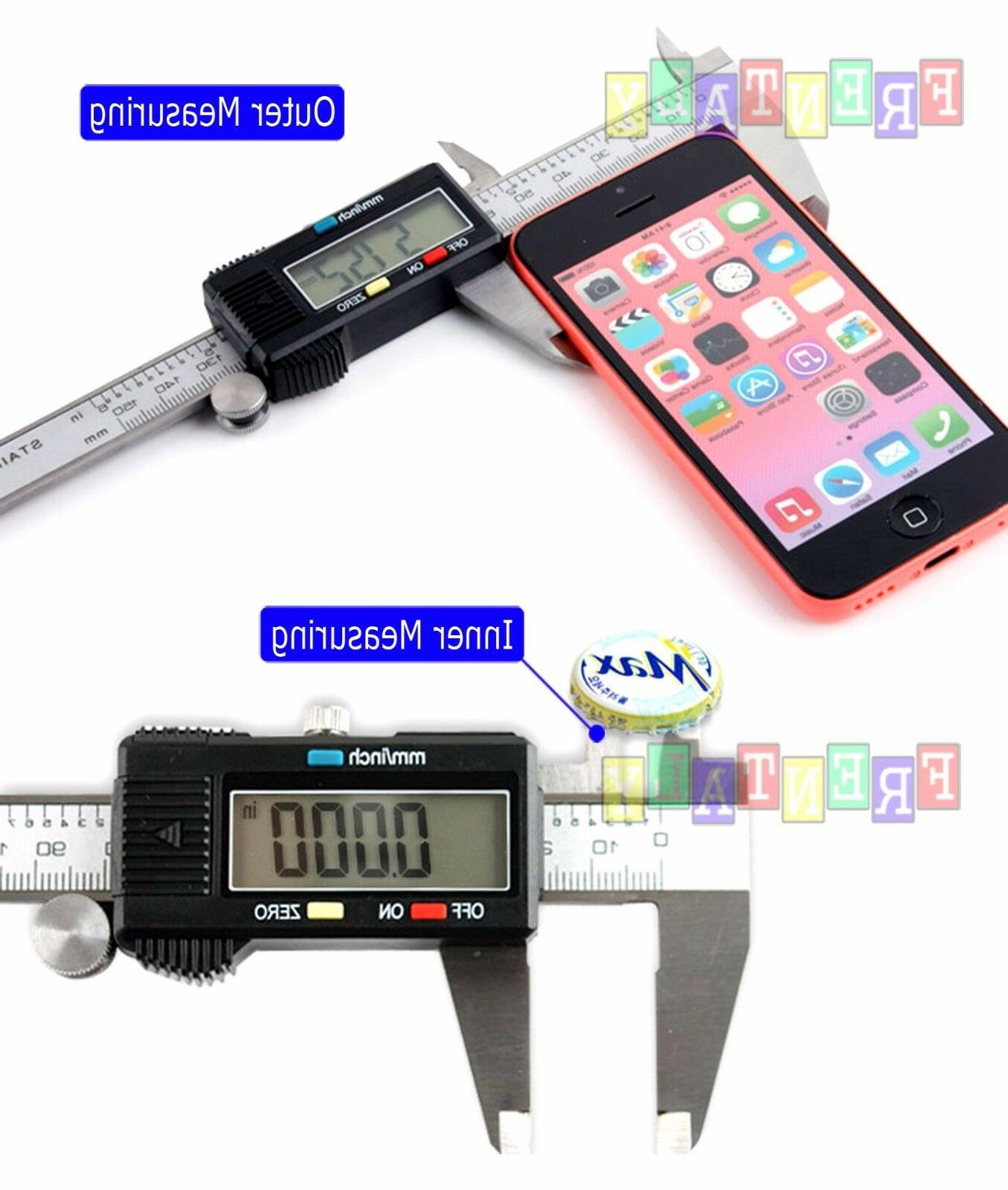 6 / Digital LCD Stainless Ruler