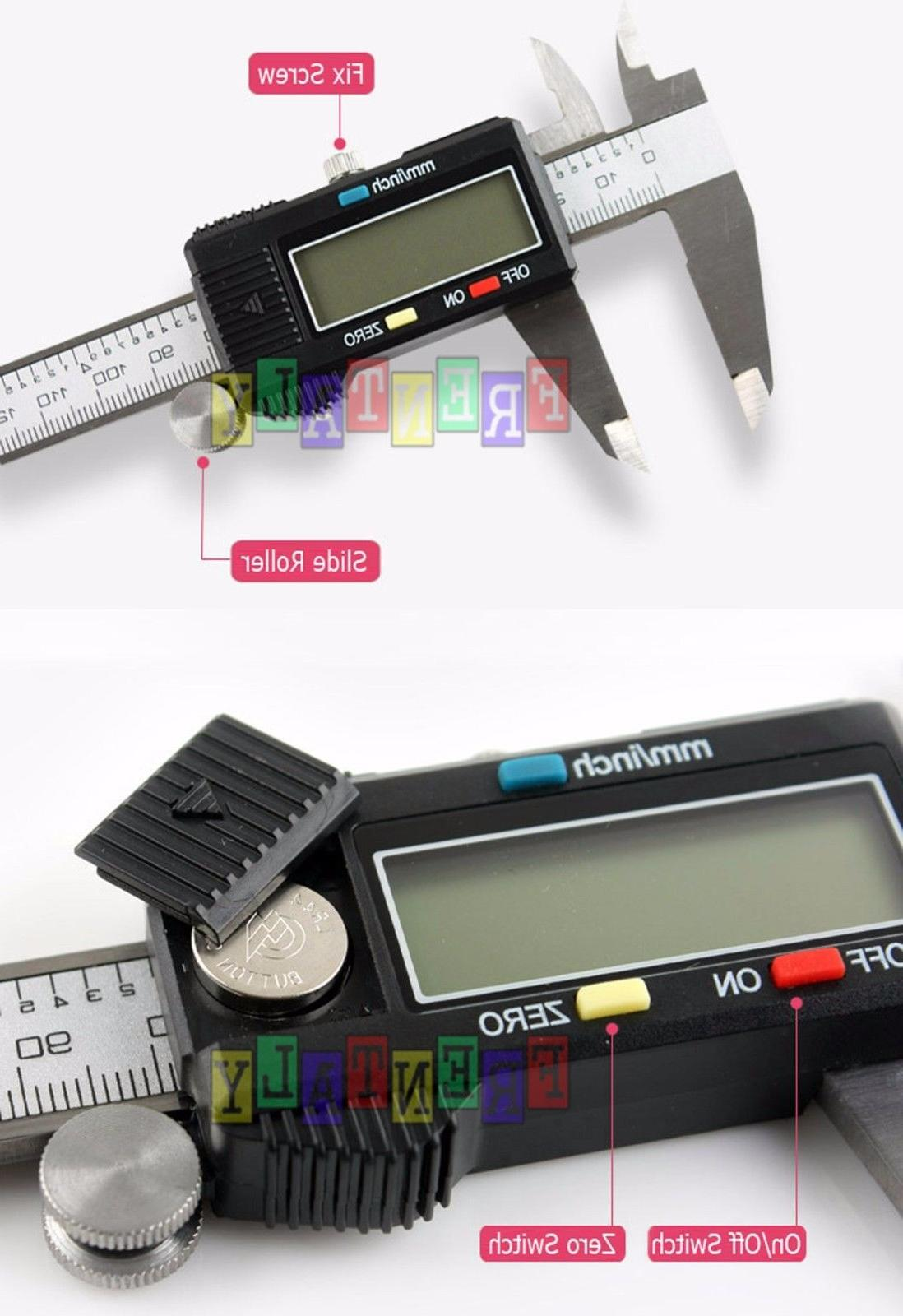 6 150mm Digital Electronic LCD Stainless Gauge Caliper