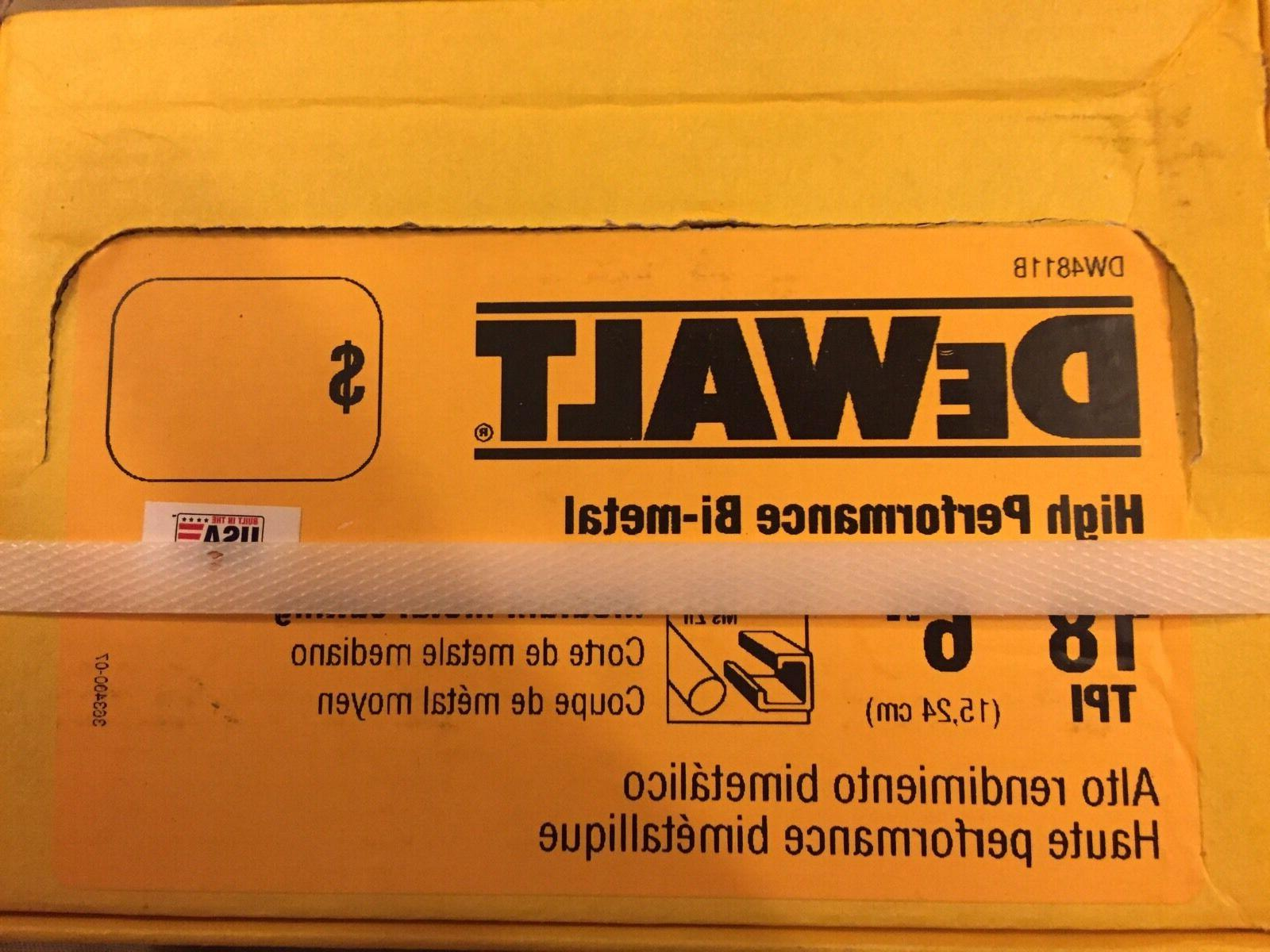 DeWalt- 6 inch 18 TPI BI-Metal Reciprocating Saw Blade ~ 100