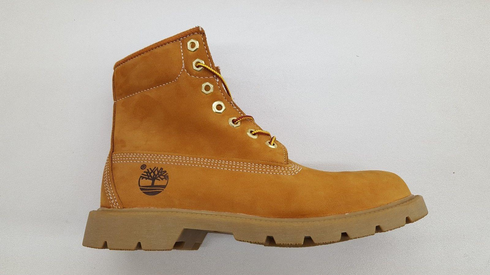 6 inch basic single sole wheat nubuck