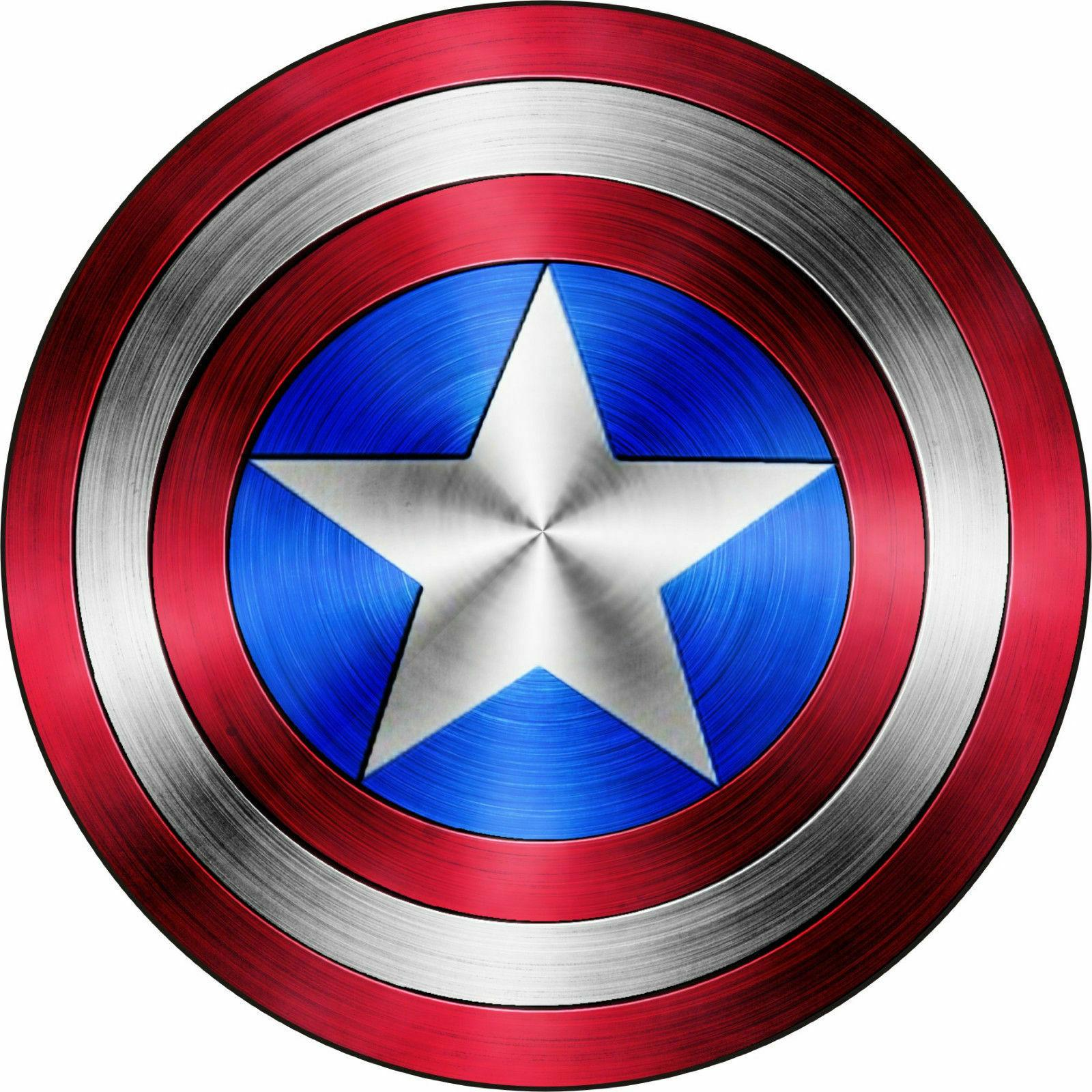 6 inch captain america shield full color