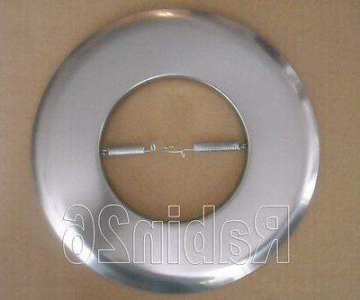 """6"""" INCH RECESSED CAN LIGHT OPEN TRIM RING R30 PAR30 SATIN NI"""