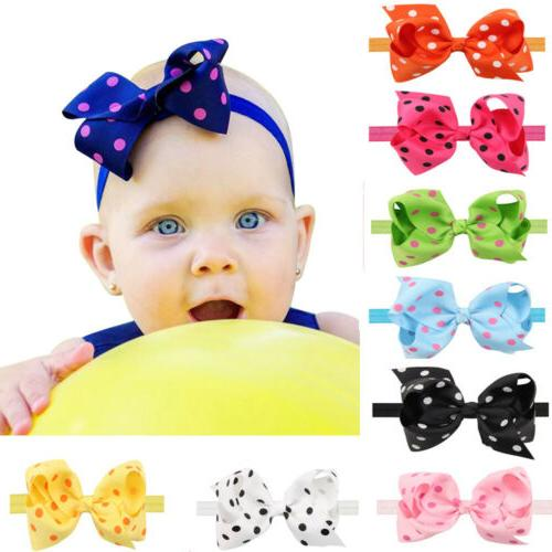6 Baby Headbands Mix Bows for Infant