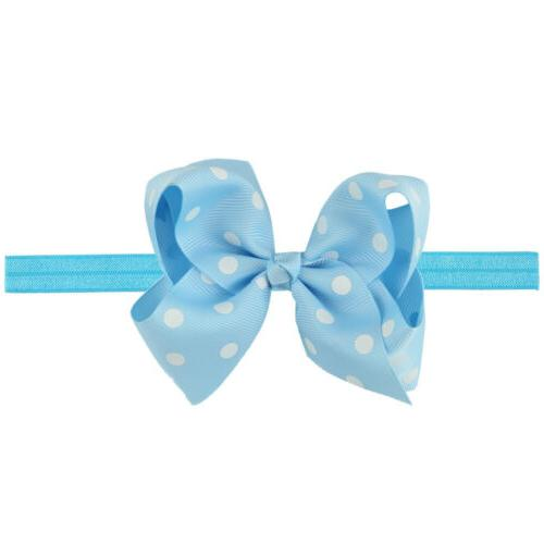 6 Inches 16 Baby Girl Big Headbands Colors Bows Head