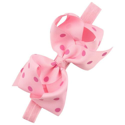 6 16 Baby Girl Big Bow Headbands Mix Bows for Infant Head