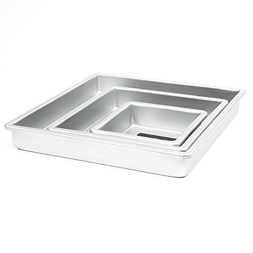 Cake Pan Set of 3, Square 2 Inches  by Fat Daddio's