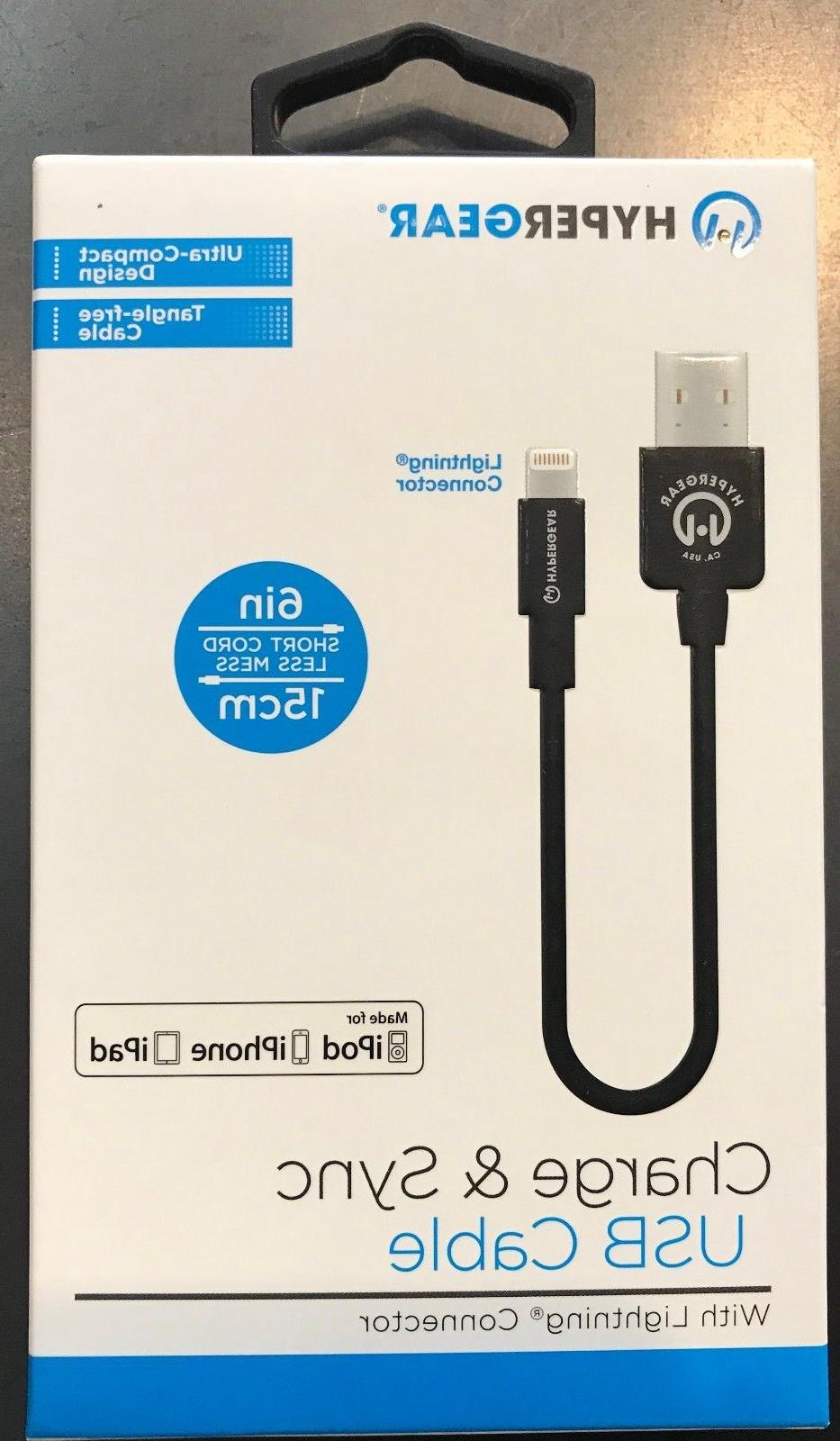 HyperGear Charge & Sync Lightning Cable 6in/15cm