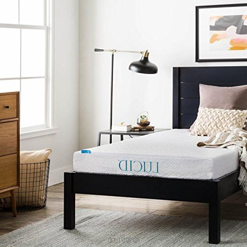 LUCID Inch Foam Mattress - Dual-Layered - Firm Size