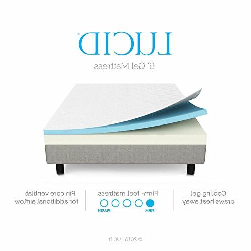 LUCID 6 Foam Mattress - Firm Size