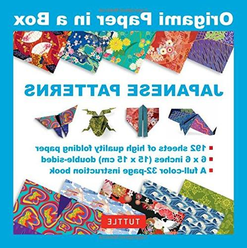 Origami Paper in a Box - Japanese Patterns: 192 Sheets of 6