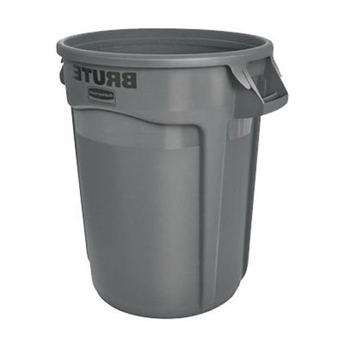 Round Waste/Utility Container Venting 32-gallon, Gray