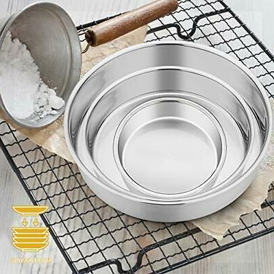 Cake Pan Set 3 E-far Stainless Steel