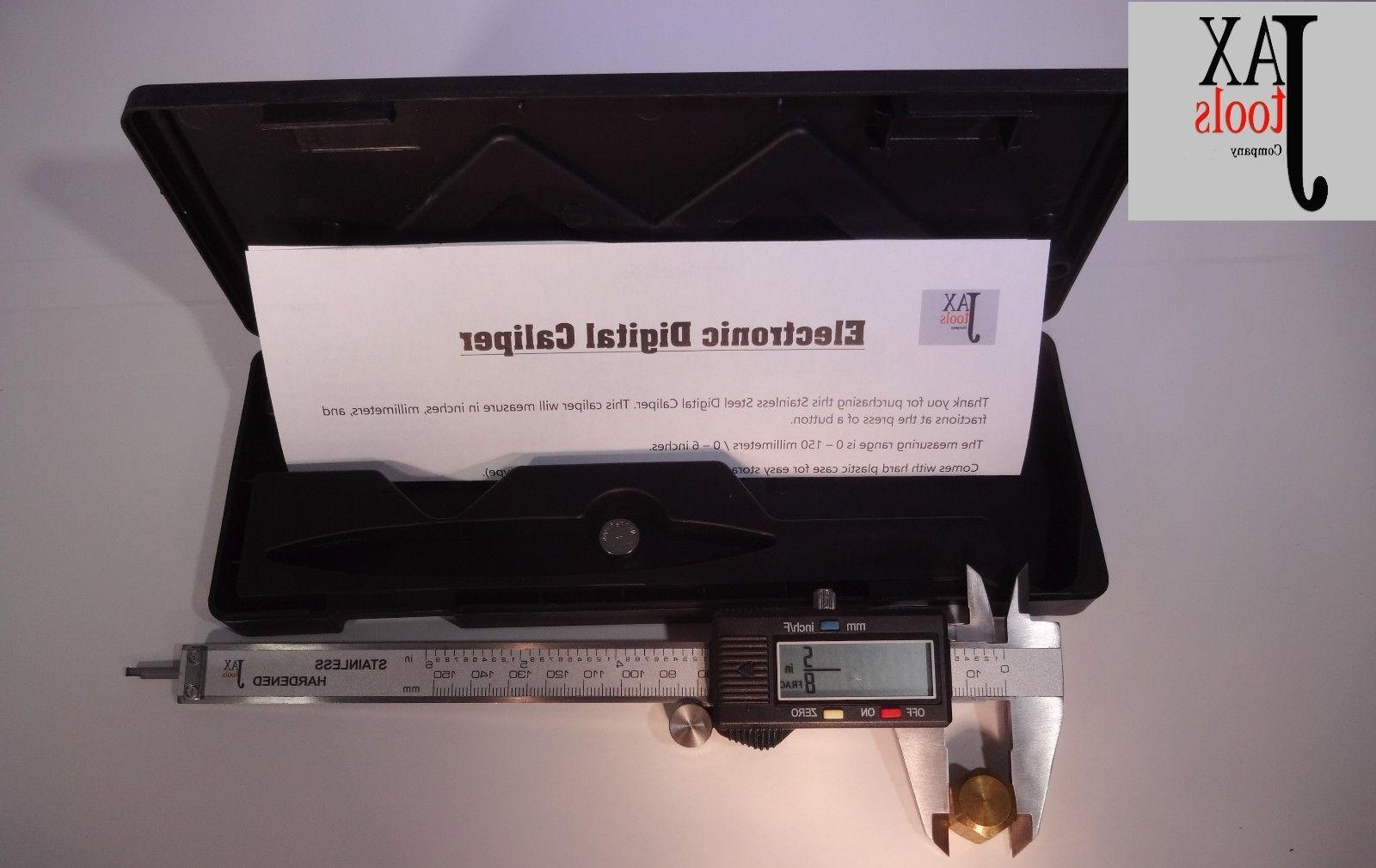 caliper 6 inch 150mm displays fractions inches