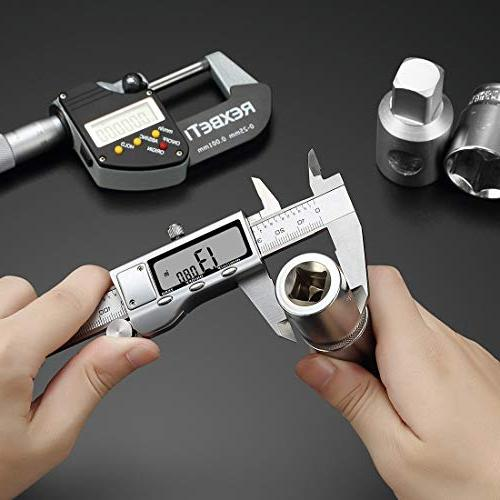 Digital 6 Measuring Inch/MM/Fractions, Calipers Gauge for Woodworking