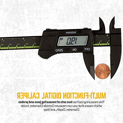 Forge - Calipers and Electronic LCD Screen Inches/Millimeters Measurement Conversion