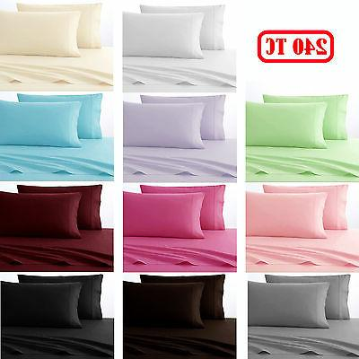 clearance price polyester cotton 240tc sheet set