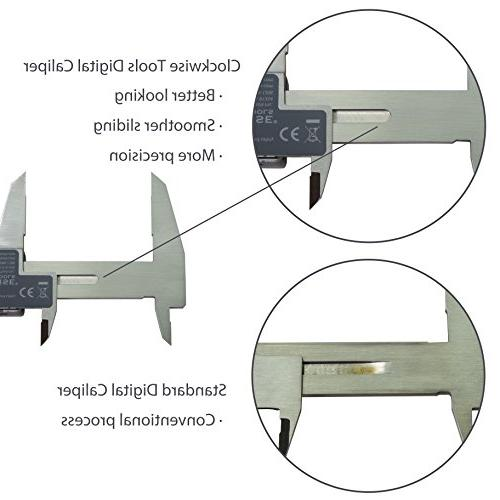 Clockwise Digital Inch/Metric/Fractions IP54 mm Stainless Steel Body Super Large Auto Off Tool
