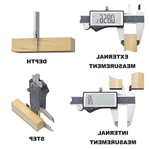 Clockwise Tools DCLR-0605 Digital Caliper IP54 mm Stainless Steel Super LCD Auto Off Featured Tool