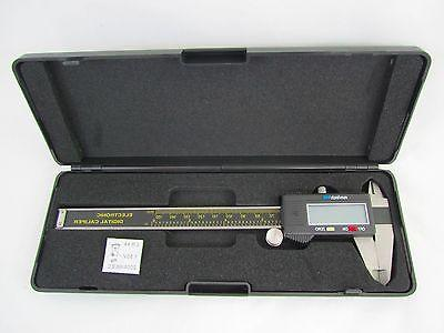 Digital Caliper 6 Inch Stainless Measures Inch/MM with Case