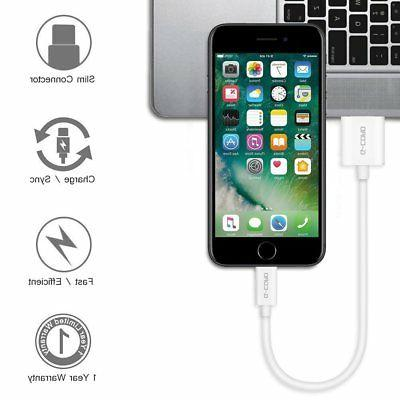 G-Cord Short Lightning USB Charging and Cable 5 Pack