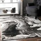 nuLOOM Grey Remona Abstract Rug, 7 Feet 6 Inches by 9 Feet 6
