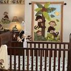 Infant Baby Crib Bedding Set Nursery Monkey Quilt Sheet Dust