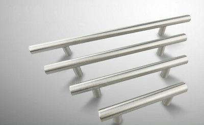 Knob Pull T-Bar with Screws Stainless Furniture Handle Cabinet