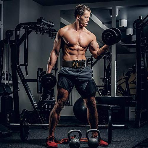 """RDX Weight Lifting 6"""" Gym Back Double Prong Fitness Crossfit Bodybuilding"""