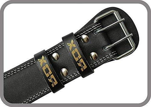 """RDX Weight Lifting Belt 6"""" Cow Gym Back Double Prong Crossfit"""