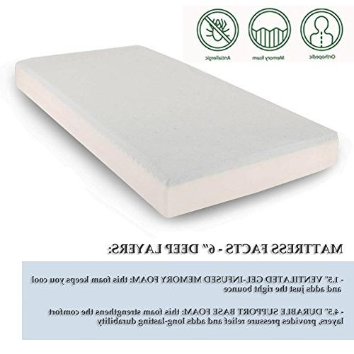 Comfort & Foam Mattress Gel-infused AirCell Tech, Cover, 6