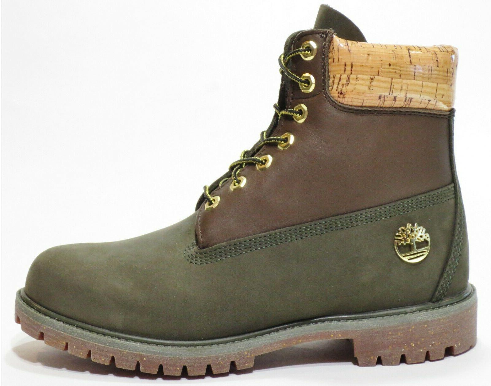 Timberland inch Release Leather Boots Green A1U6A