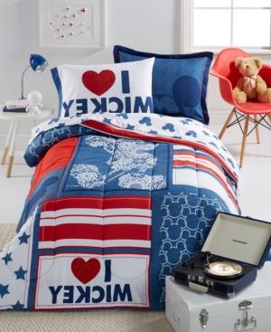 mickey americana twin comforter set
