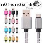 Micro USB Fast Charger Data Sync Cable Braided Cord for Sams