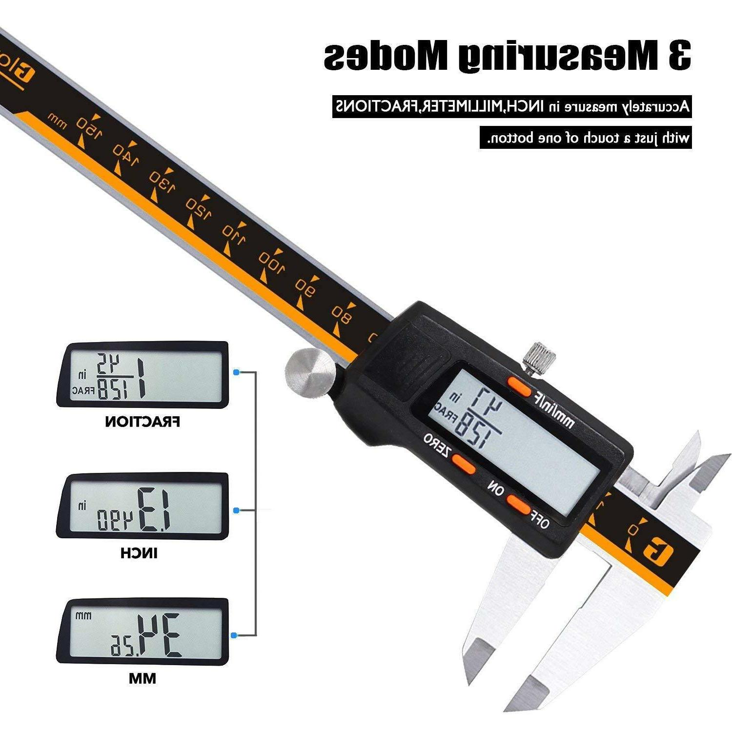 NEW Stainless Electronic Vernier 0-6 Inch/150mm