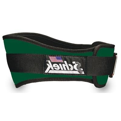 nylon lifting belt 6 inch forest green
