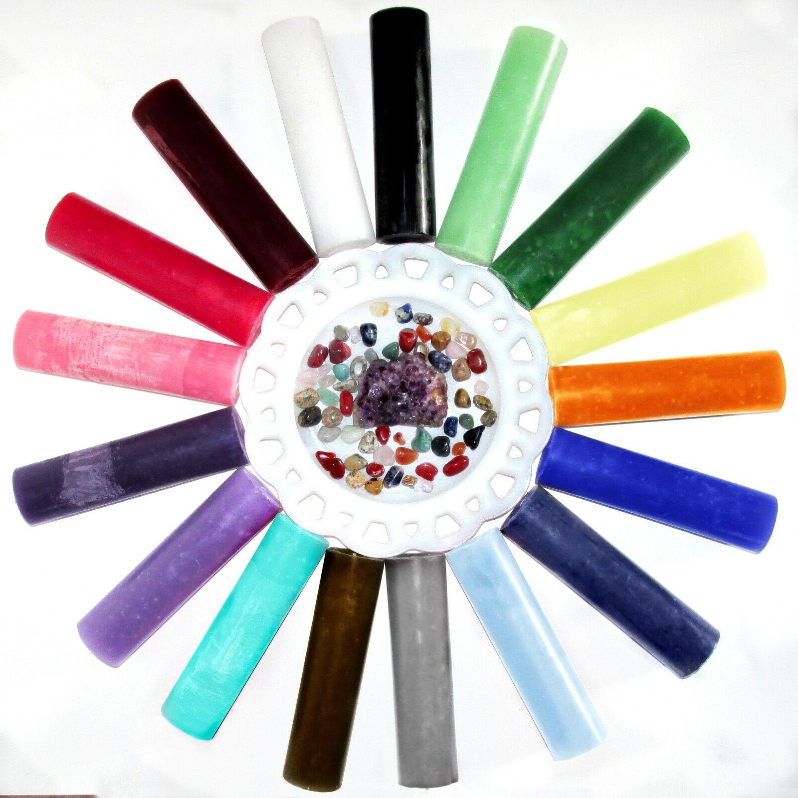 One Altar Candle 6 Inch Wicca Chakra Hoodoo Choose Color -OR